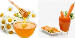 Mật ong và Cà rốt chữa ho